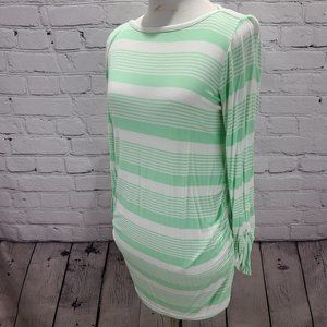 New Recruit Light Green and white Maternity shirt